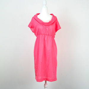 J. CREW Hot Pink Cowl Neck Cover Up Dress